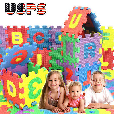 36x Kids Baby Number Alphabet Puzzle Floor Mats Foam Maths Educational Toy Gift