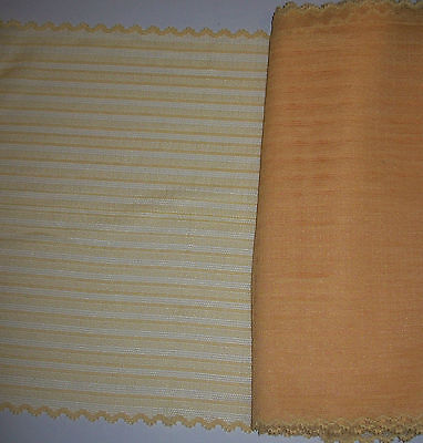 """#21) 3 1/4 yards 3m of Peach Stretch Lycra Lace  9 1/2"""" 245mm wide"""