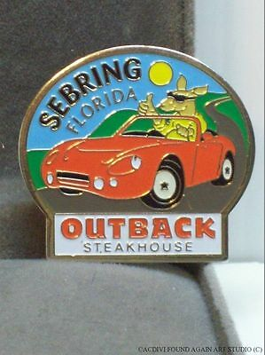 Kangaroo in Convertible Car Outback Steakhouse Pin Sebring Florida Restaurant