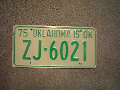 Oklahoma Is Ok 1975  License Plate    Buy All States Here