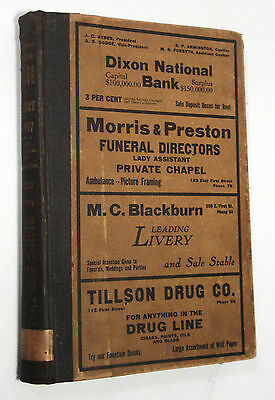 Dixon, Illinois Lee County City Directory, Residents & Business, Ads, 1916