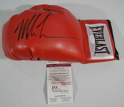 Mike Tyson Signed Autographed Red Boxing Glove Jsa Coa Left