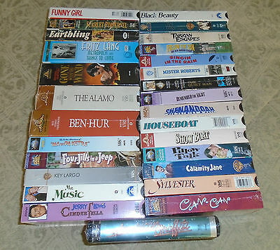Lot of 33 Classic Oldies VHS videos NEW & SEALED