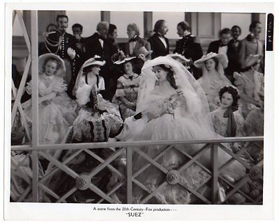 LORETTA YOUNG 1938 Vintage Orig Photo SUEZ elegant ladies movie still scene