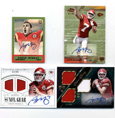LOT OF (4) AARON MURRAY 2014 NATIONAL TREASURES and TOPPS ROOKIE AUTO #ED H5164