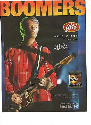 Wilco, Nels Cline, GHS Strings, Full Page Promotional Ad