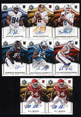 LOT OF (8) 2016 PANINI LIMITED ROOKIE AUTOGRAPH AUTO RC #/35 and #/99 H5996