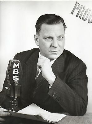 46525. Original 1940s Photo Mutual Broadcasting Fulton Lewis Jr Right Wing Voice