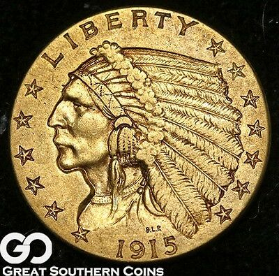 1915 Quarter Eagle, $2.5 Gold Indian ** Free Shipping!