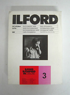 ILFORD ILFOSPEED RC DELUXE B&W Grade No.3 Glossy Papers 13x18cm /100 sheets. M33