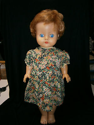"20 "" Soft Vinyl Marked English Pedigree Doll Circ.1960's."