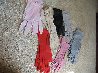 Vintage womans dress gloves collection/lot Small size lot of 7