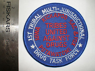 """OK Oklahoma Indian Tribes Drug Task Force Tribal Narcotics police 4"""" patch"""