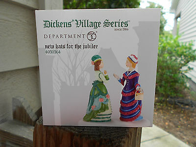DEPT 56 DICKENS' VILLAGE DICKENS Accessory NEW HATS FOR THE JUBILEE NIB *Read*