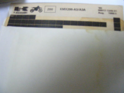 Kawasaki  Kmx200 A3  / A3A  Parts Catalogue  1989