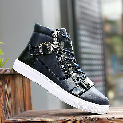 2017 Hot !Men's High Top Sneakers Ankle Boots Lace Up Skateboard Casual Shoes