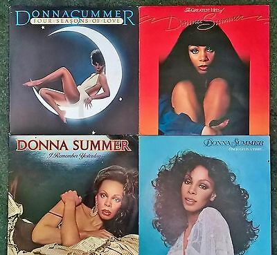 5 DONNA SUMMER VINYL RECORDS LPs GREATEST HITS ONCE UPON A TIME SEASONS PP INC