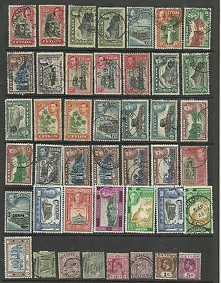 A Selection of Mounted Mint & Used Ceylon Stamps on Hanger page.