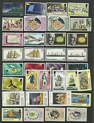 A Selection of Mounted Mint Pitcairn Island Stamps on Hanger page.