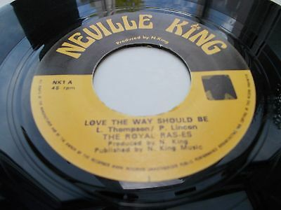 The Royal Rasses - Love The Way It Should Be 7' Neville King Vg Listen