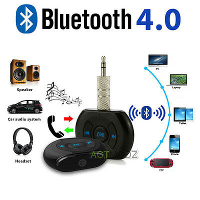 3.5mm Wireless Bluetooth Stereo Car Cell Phone AUX Audio Music Receiver Adapter