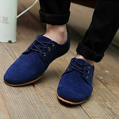 2017 Suede European style leather Shoes Men's oxfords Casual Fashion UK 8