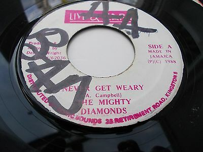 The Mighty Diamonds - Never Get Weary 7' 1988 Live & Learn Vg Listen