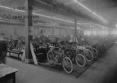 1909 Chicago motorcycle show NSU display photograph early motorcycle photo