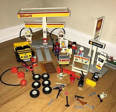 Playmobil 3437 Shell Petrol Station (With Boxed Vintage) 1991