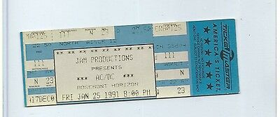 FULL UNUSED TICKET w/ FREE SHIPPING: 1991 AC/DC Chicago