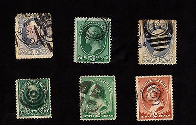 Stamps ~ USA UNITED STATES AMERICA Classics POSTMARKS ~ Used 19th Century #2
