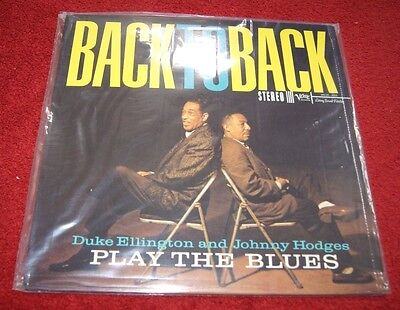 DUKE ELLINGTON & JOHNNY HODGES BACK TO BACK VERVE Classic Records LP New/Sealed