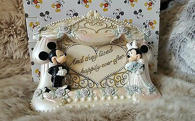 WDW Mickey Mouse & Minnie Mouse Wedding Photo Frame