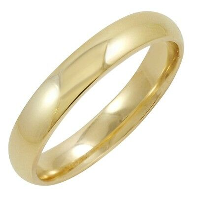 Men's 10K Yellow Gold 4MM Comfort Fit Plain Wedding Band Choose your Ring Size