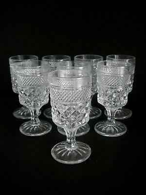 """(8) Wexford Stemmed 4 Oz. Glasses Standing 5-3/8"""" Tall with a 2-1/2"""" Top Opening"""
