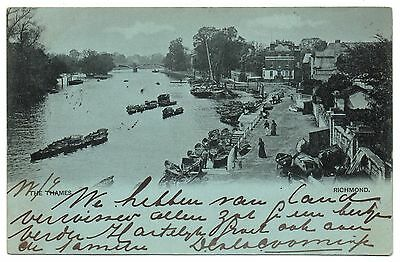 Richmond The Thames early Victorian Stamp