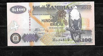 ZAMBIA #38d 2003 UNUSED 100 KWACHA BANKNOTE PAPER MONEY CURRENCY BILL NOTE