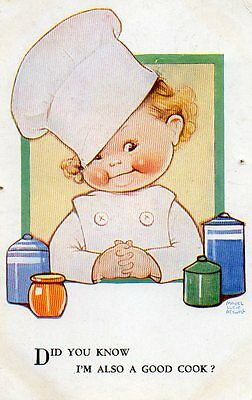 VINTAGE MABEL LUCIE ATTWELL postcard of CHEF COOK
