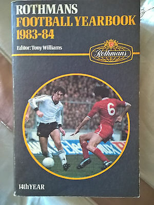 Rothmans Football Yearbook 1983/84  Softback Edition No 14  rare grey/blue cover