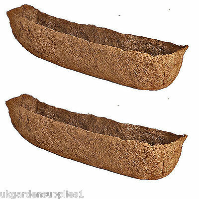 "2 x 36"" (90cm) Natural Co-Co Liners for Window Box or Wall Troughs"