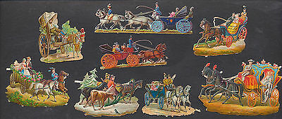 S5007 Victorian Die Cut Scraps: 8 Carriages