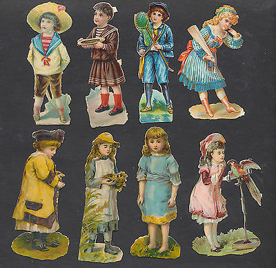 S5010 Victorian Die Cut Scraps: 8 Children