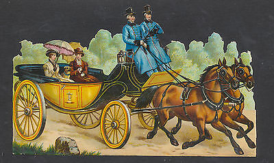 S5029 Victorian Die Cut Scraps: Large Ladies in Carriage