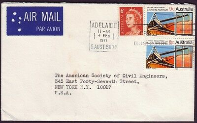 1971 9c BAUXITE X2 ON COMMERCIAL COVER TO USA (CAT.VALUE 2002 $50)  (RU3116)