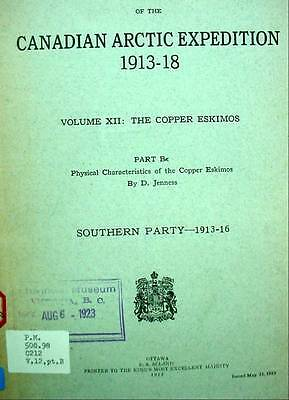 Canadian Arctic Expedition 1913-18 Vol XII Copper Eskimos Physical Characterist
