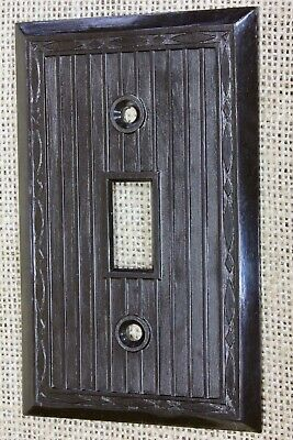 single Switch Plate brown vintage plastic NEW OLD STOCK NOS 1940's RELIANCE USA!