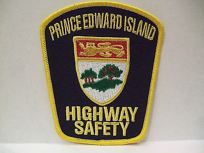 police patch  HIGHWAY SAFETY PRINCE EDWARD ISLAND PEI CANADA