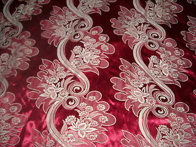 Vintage 20s Floral Jacquard Gorgeous silky cotton fabric curtain drape