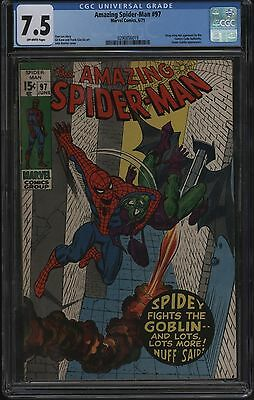 Amazing Spider-Man #97 Cgc 7.5  Nice Pages Case Is Perfect