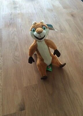"""Plush Toy - Over The Hedge - Hammy BNWT (Approx 7"""" Tall)"""